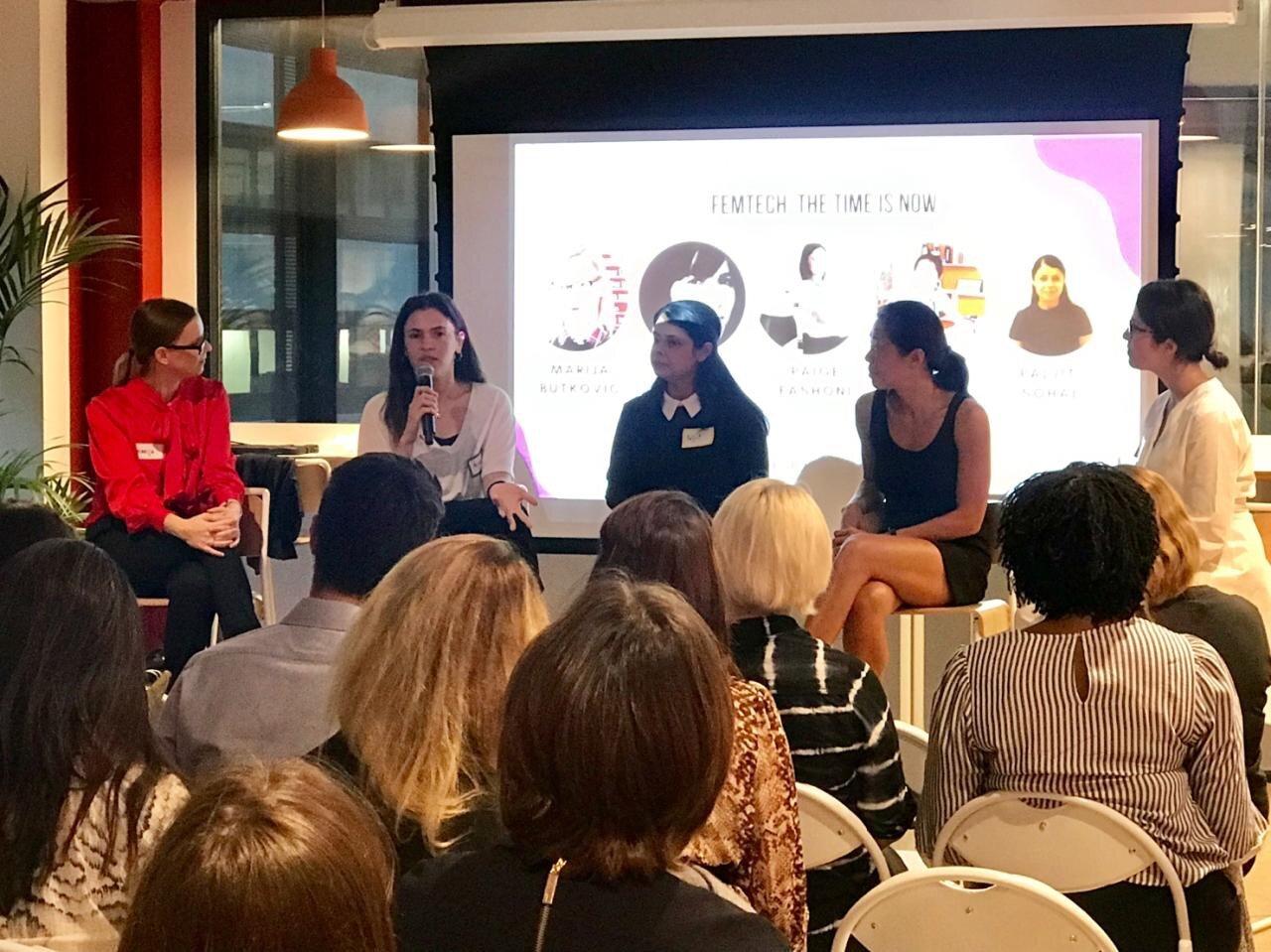 FemTech panel, London September 2019