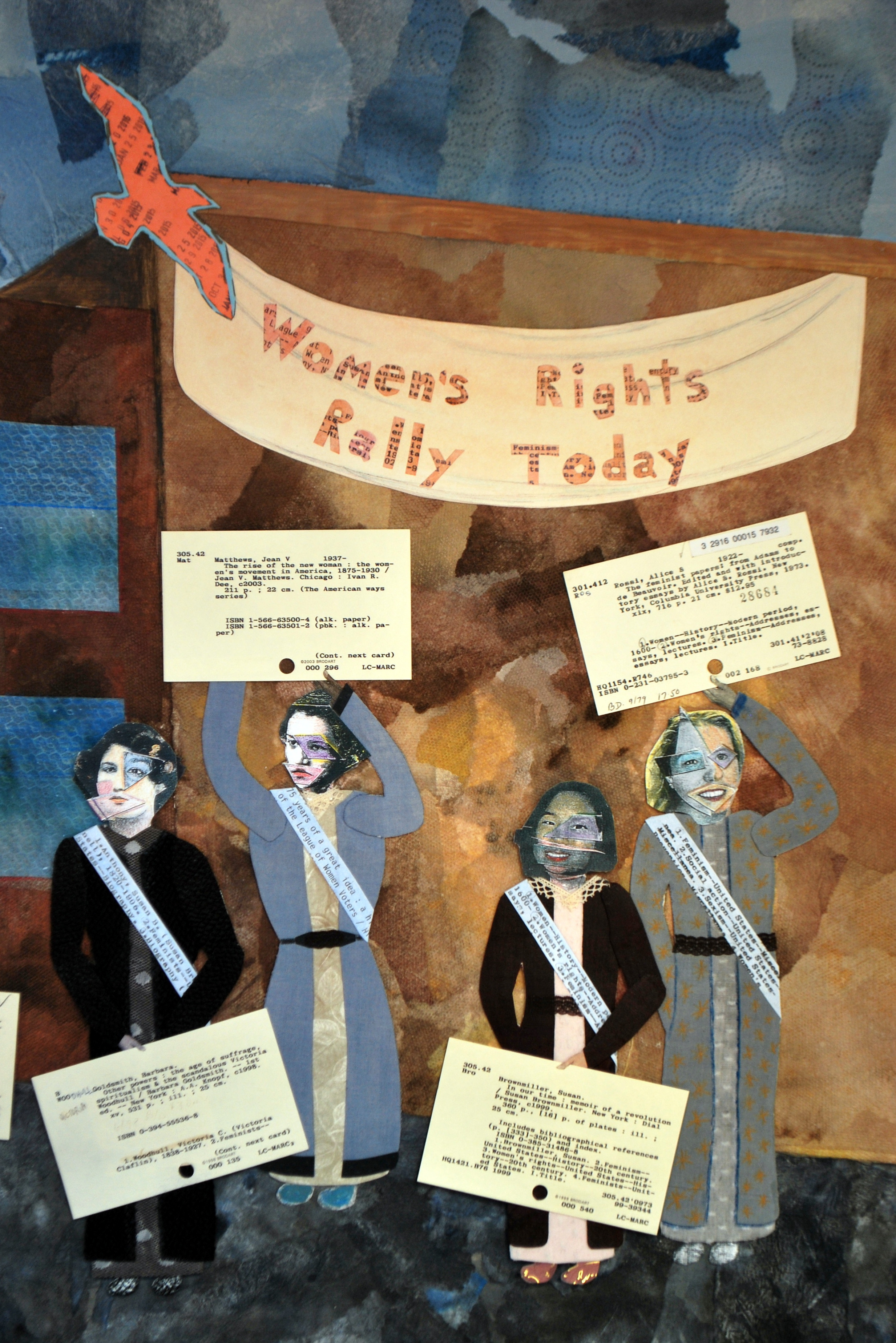 The League of Women Voters (detail of mixed media collage)