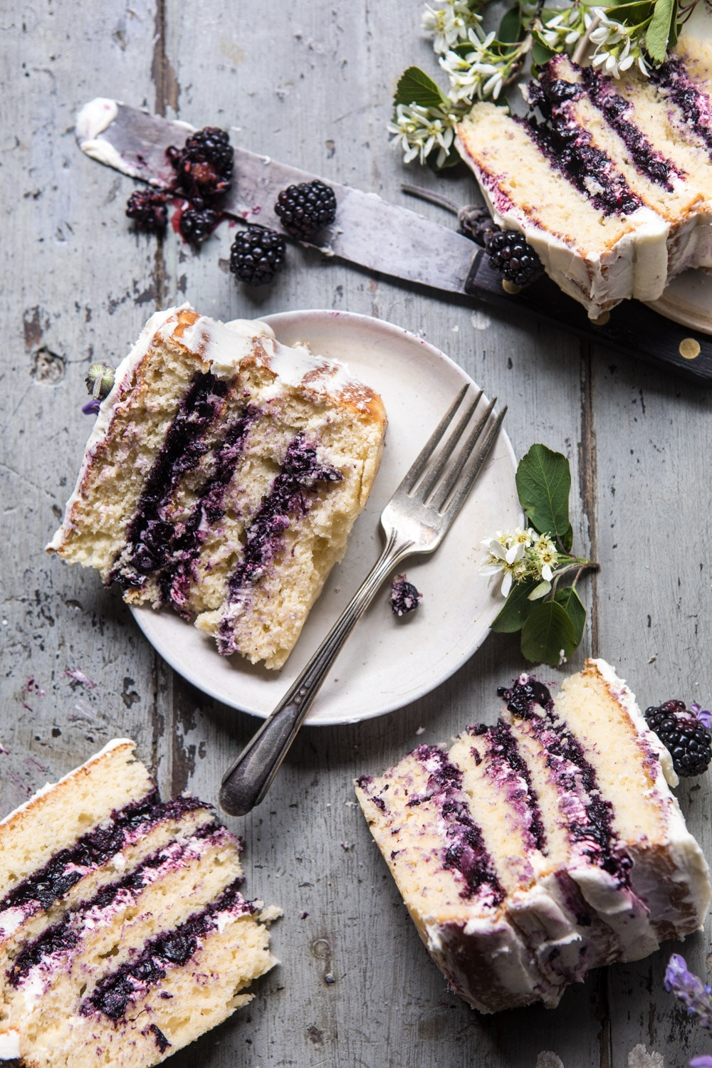 Blackberry Lavender Cake by Half Baked Harvest
