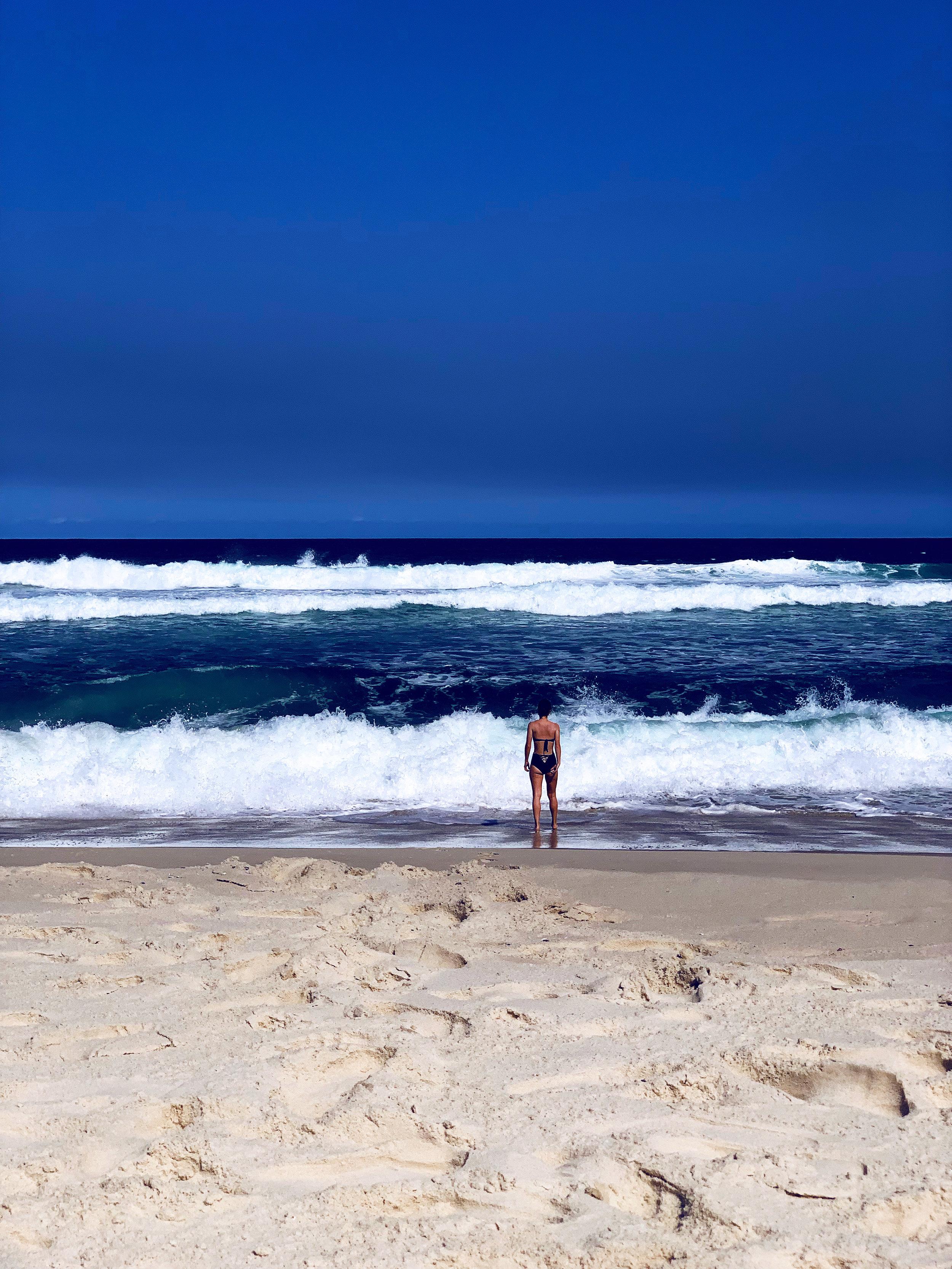 Купаюсь на пляжя Barra da Tijuca.