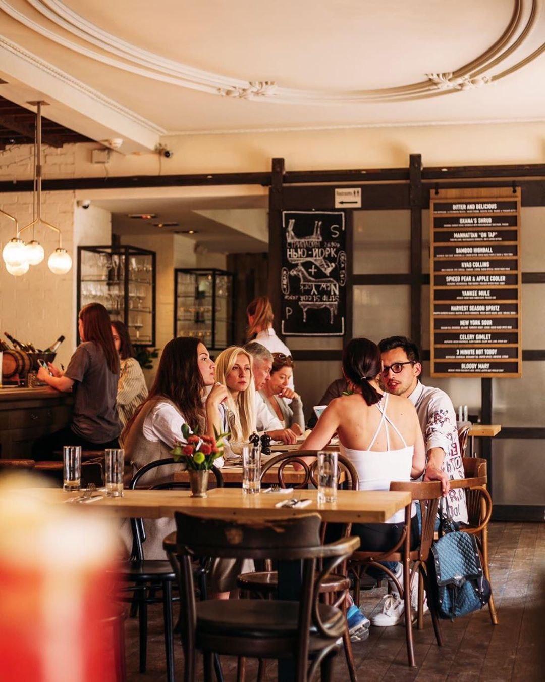 Интерьер ресторана Saxon + Parole