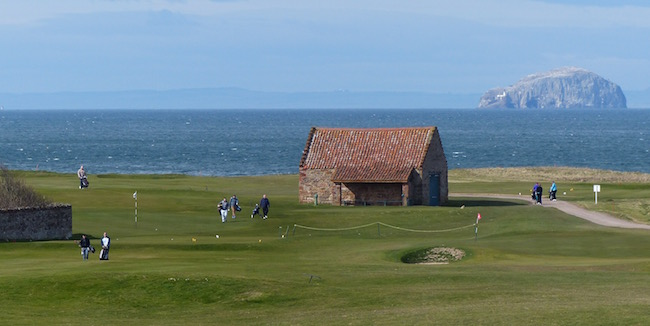 Rock of Ages --  If your golf shots at Dunbar force you to look away, you can always cast your gaze on Bass Rock -- clearly visible from 14 of the 18 holes. No doubt our golfing ancestors did the same 400 years ago.