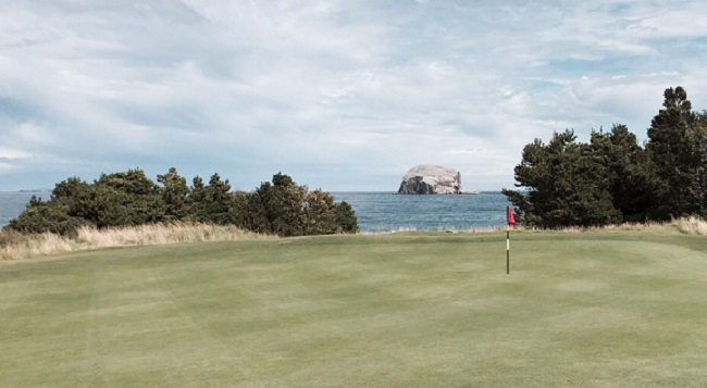 """Rock On -- The 12th green overlooks North Berwick's iconic Bass Rock. Used as a place of imprisonment during the 15th century, it's now home to a vast population of gannets. Wildlife specialist David Attenborough rates it as """"One of the 12 Wildlife Wonders of the World."""""""