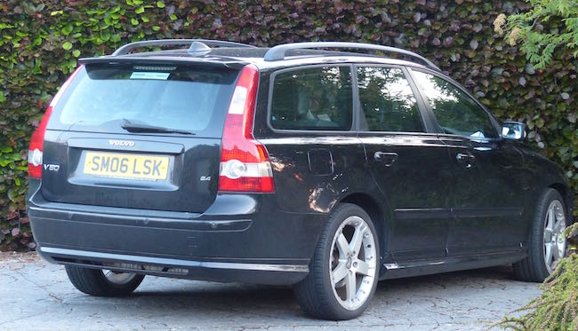 Sweet Swede -- We're now the proud owners of this 2006 Volvo V50. And, yes, the golf clubs fit very comfortably in the boot (UK for trunk).