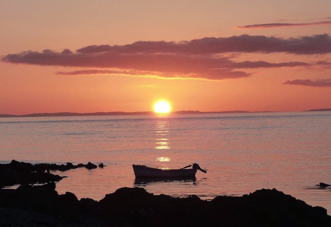 Into the Gloaming -- A thrilling sunset at Machrihanish. This lovely day's end brought me that much closer to the full-fledged beginning of my life in Scotland.