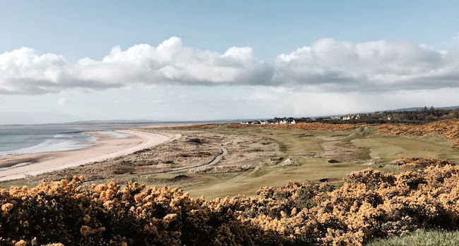 A Highlands Howdy -- My first round back on Scottish linksland was played here, the top drawer Royal Dornoch Golf Club. The weather took a turn for the worse at the end of the round.