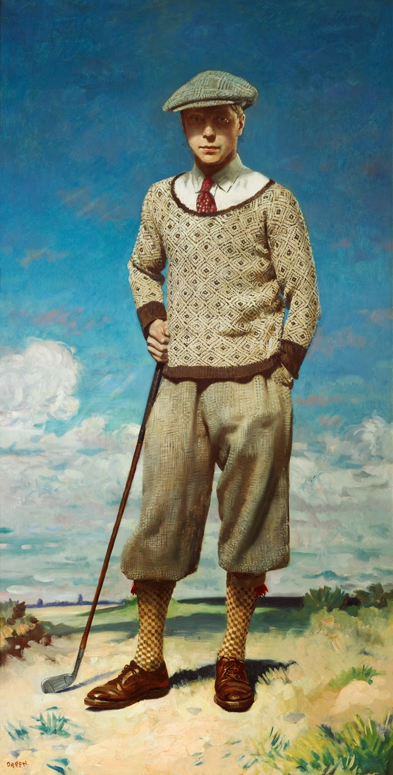 The Prince –  This portrait of His Royal Highness the Prince of Wales was commissioned in 1927 to commemorate the rise of a royal to the position of captain of the R&A. The story is told that the prince insisted on being portrayed in standard golfer's garb rather than his more typical formal attire. Dashing!