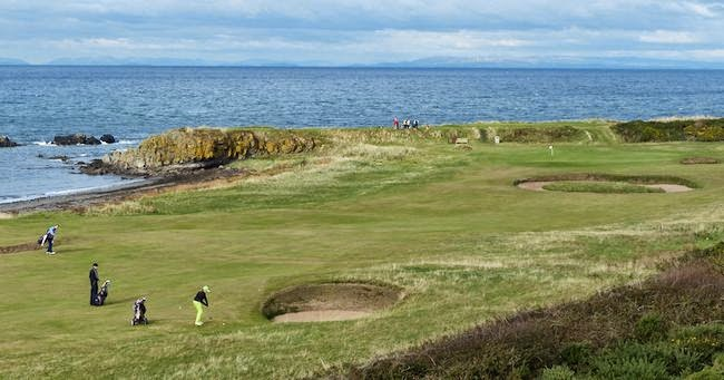 Ryu's Regret? -- Here's the Ailsa's 10th hole where Ishikawa went against Lee's advice in the 2009 Open, much to his and his caddie's chagrin.
