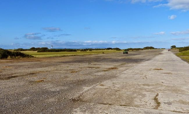 Historical Significance -- This crumbling stretch of runway once served as a training ground for the Royal Air Force during both World I and World War II.
