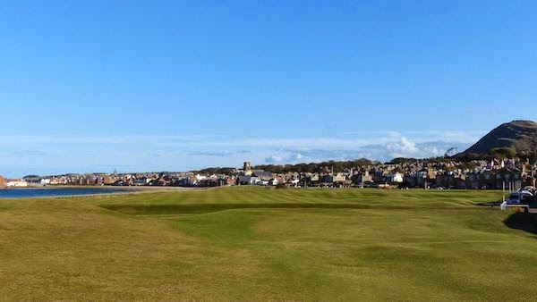 Full Circle -- The journey at North Berwick ends on a short par 4. Not much for shot value. But the view? Outstanding!