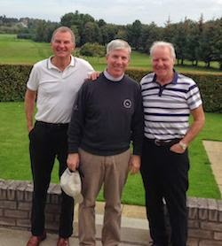 The Friendly Confines -- Danny, right, is a   Musselburgh   Golf Club member. Dougie, left, is his friend   of four decades.  I'm   the lucky guy in between.