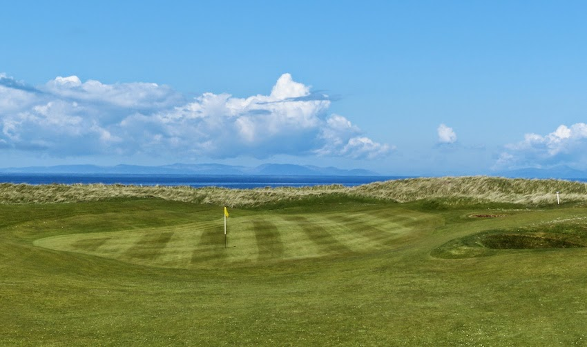 Islay-k It! -- The 3rd hole, also known as Islay for the   Hebrides island of the same name, visible in the distance.