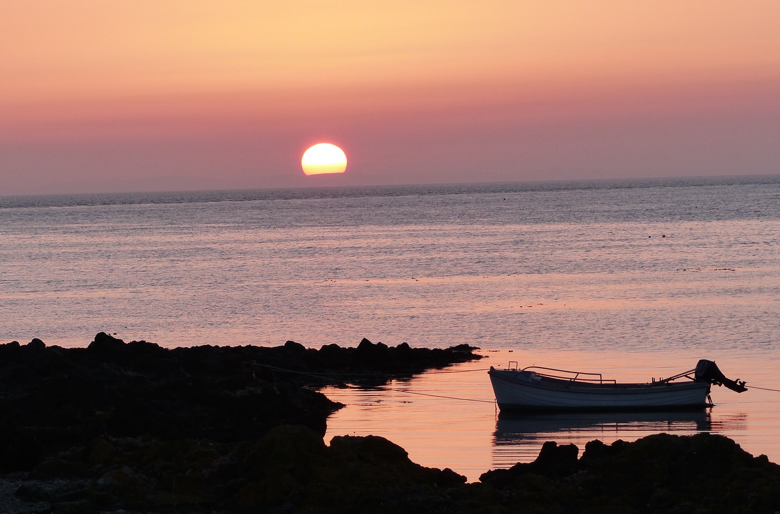 In the Gloaming --  Just one in a series of spectacular sunsets we enjoyed during our week of remarkable calm and clear weather at Machrihanish.