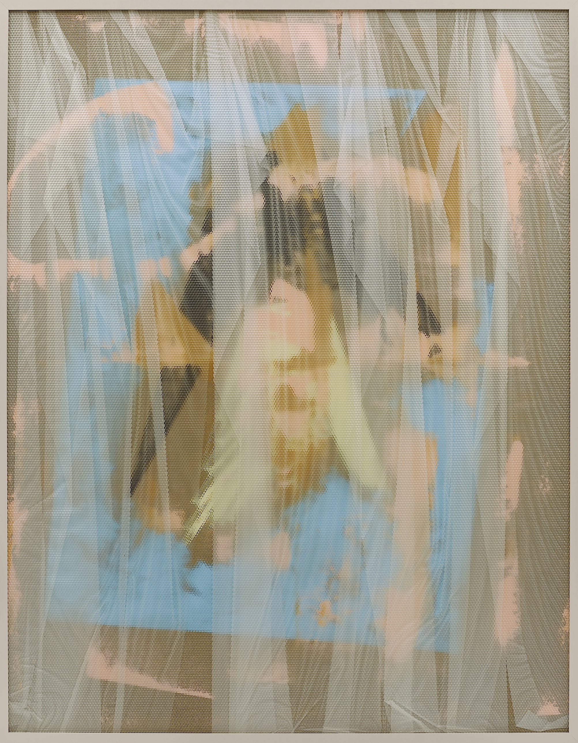 Eidolon / Part VII,  2013 Oil, acrylic and latex on canvas beneath textured Plexiglas 180 x 140 cm (71 x 55 in)