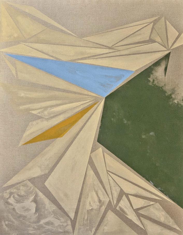Proekt Unovisa / Part VI,  2012 Oil, acrylic and on linen canvas 180 x 140 cm (71 x 55 in)