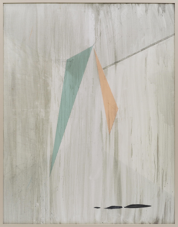 Eidolon / Part I,  2012 Oil and acrylic on canvas beneath textured Plexiglas 180 x 140 cm (71 x 55 in)