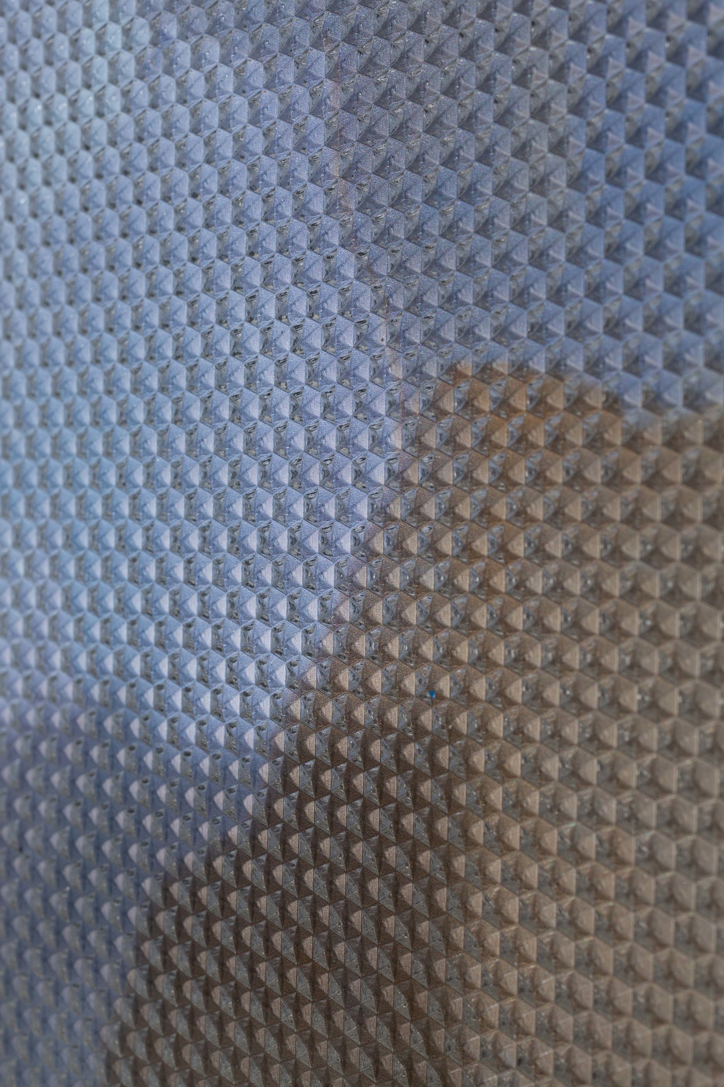 Beyond the Oecumene / Part VII,  2019 - Detail Aquarelle, wax pastels, UV-print on aluminium beneath polygonal Plexiglas