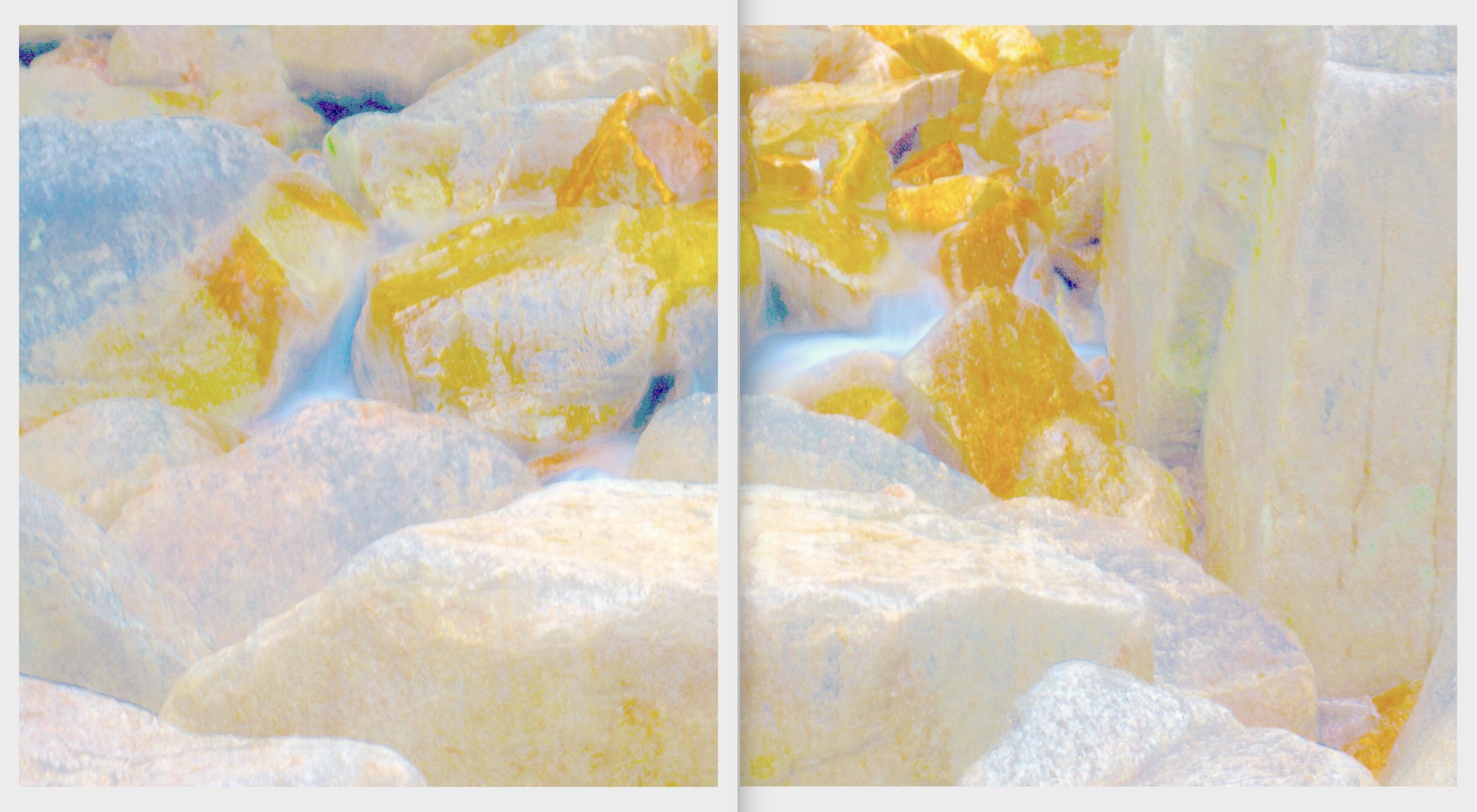 Beyond the Oecumene / Part XXIII (Diptych),  2019 Aquarelle, wax pastels, UV-print on paper 300 x 160 cm (118 x 63 in)