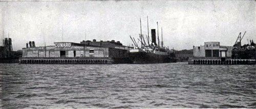 Cunard Wharf, East Boston, 1907