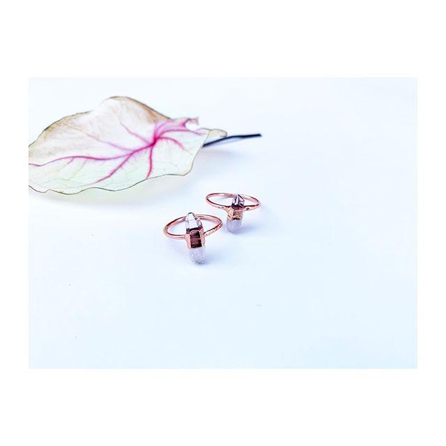 P I X I E  P O I N T S✨ One for you, one for your bff... _____________________ #shopsmall #handmadejewelery #electroforming #witchywoman #crystaljewelry #love #bossbabe #sandiego #sandiegomade  #minimalist #minimalistjewelry #crystals #shoplocal #moon #electroforming #electroform #electroformedjewelry #rings #amethyst