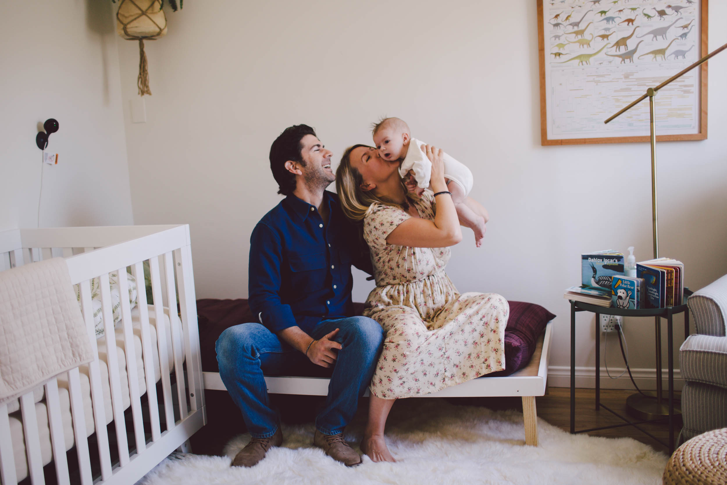 newborn-in home session-dog-venice-california- family-lifestyle-photographer-boho-nursery-los angeles