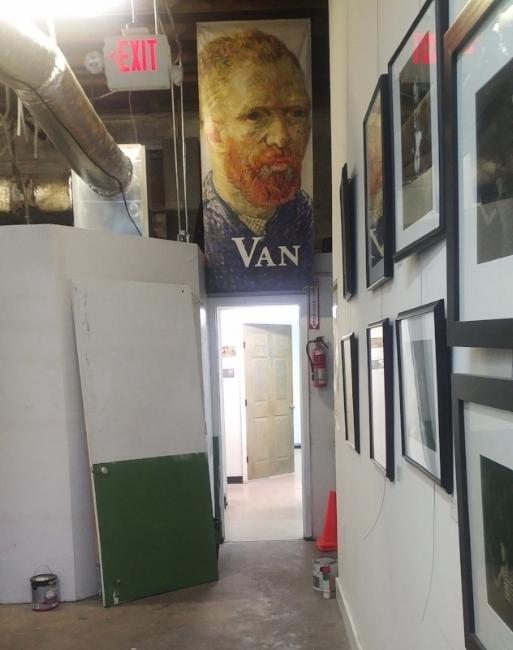 Studio #6 doorway. The paint is almost dry!