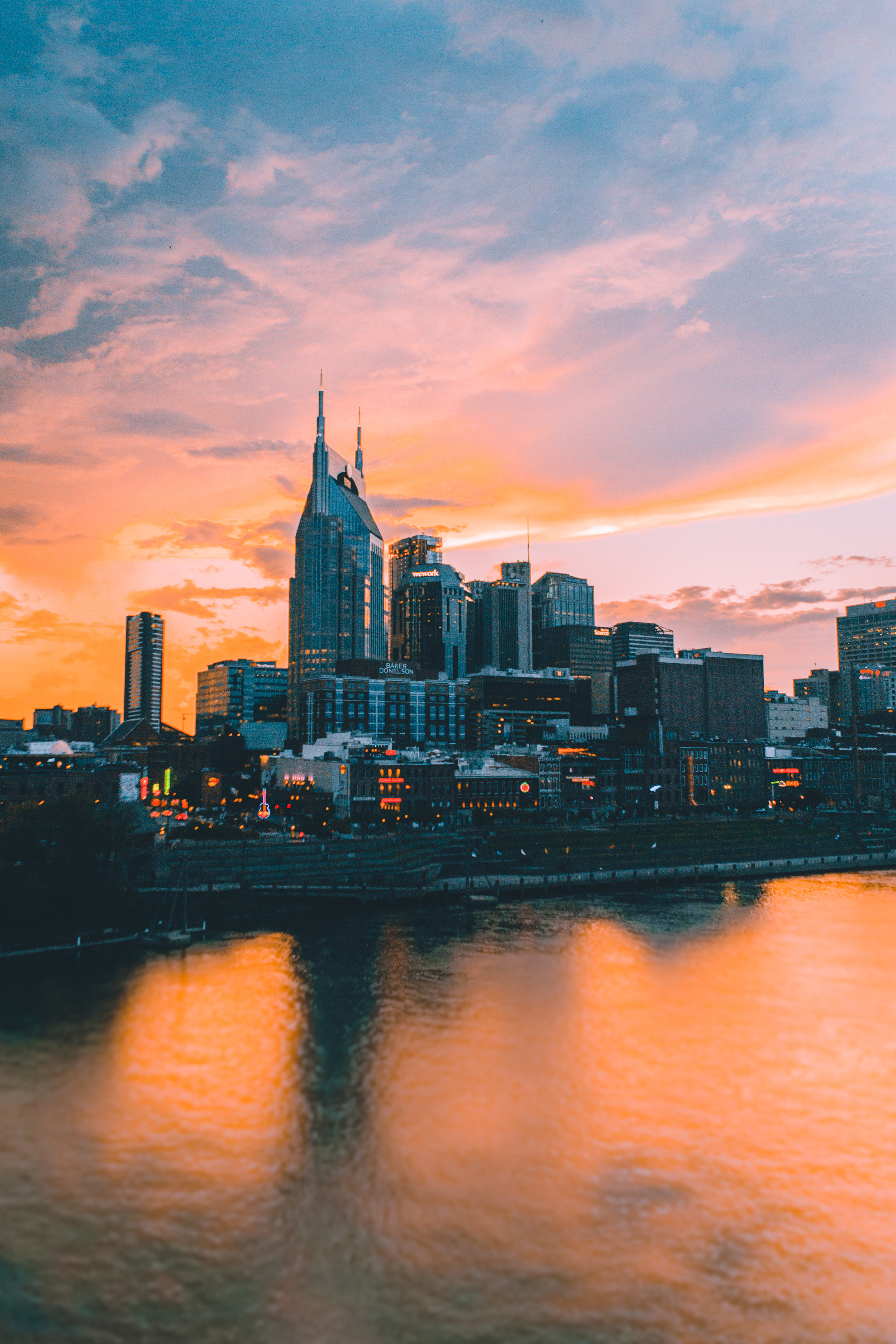 Sunset over Nashville…