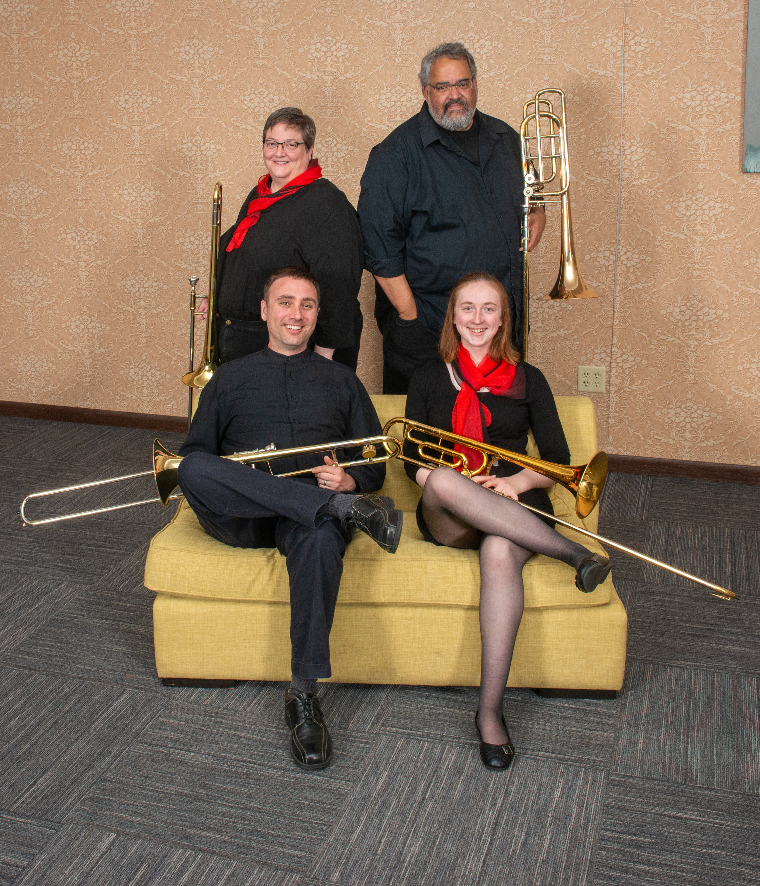 The Trombone Section    Pictured Here: