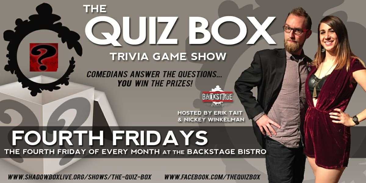 quiz box comedy show shadowbox