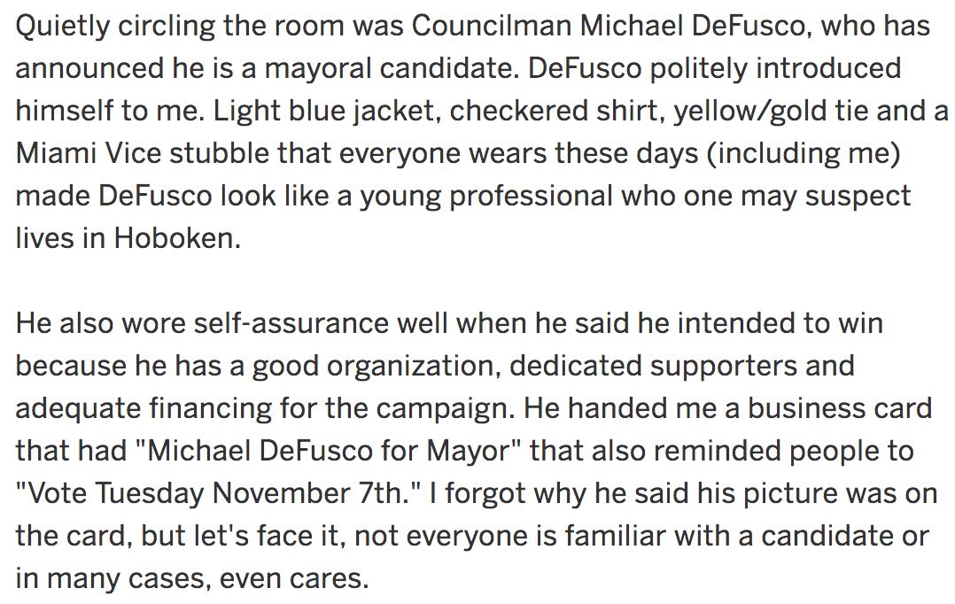 Mike DeFusco for Mayor NJ dot com