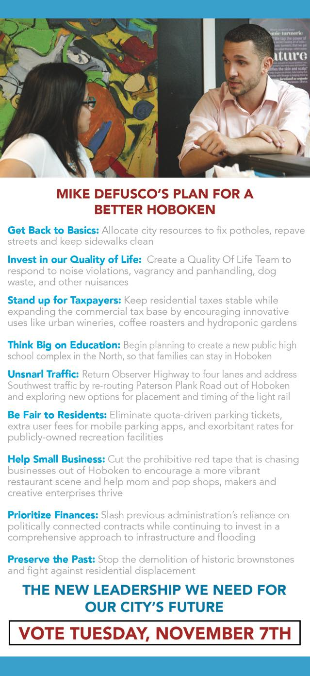 Mike DeFusco for a better Hoboken
