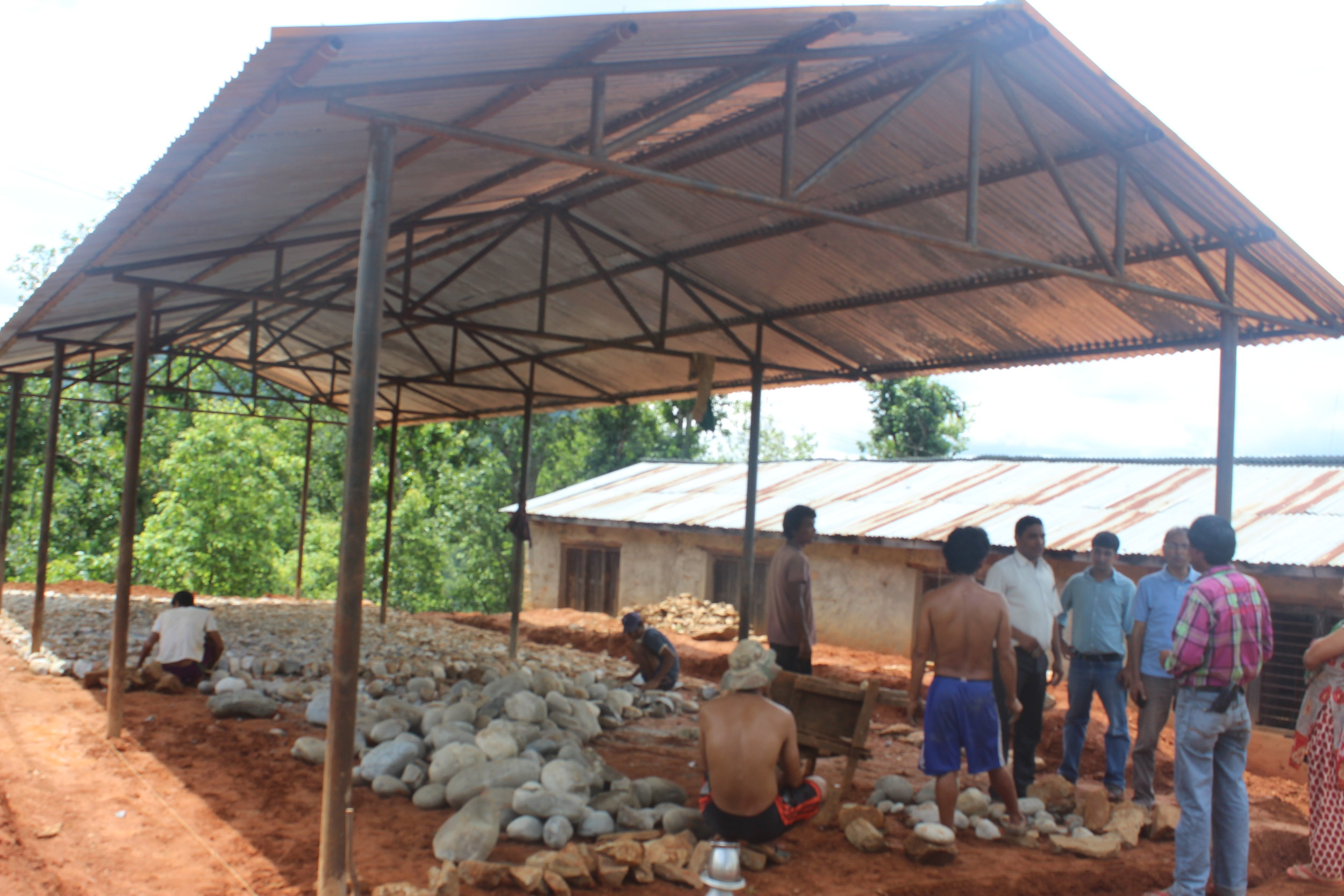Foundation and Truss of Bandevi, Gorkha.JPG
