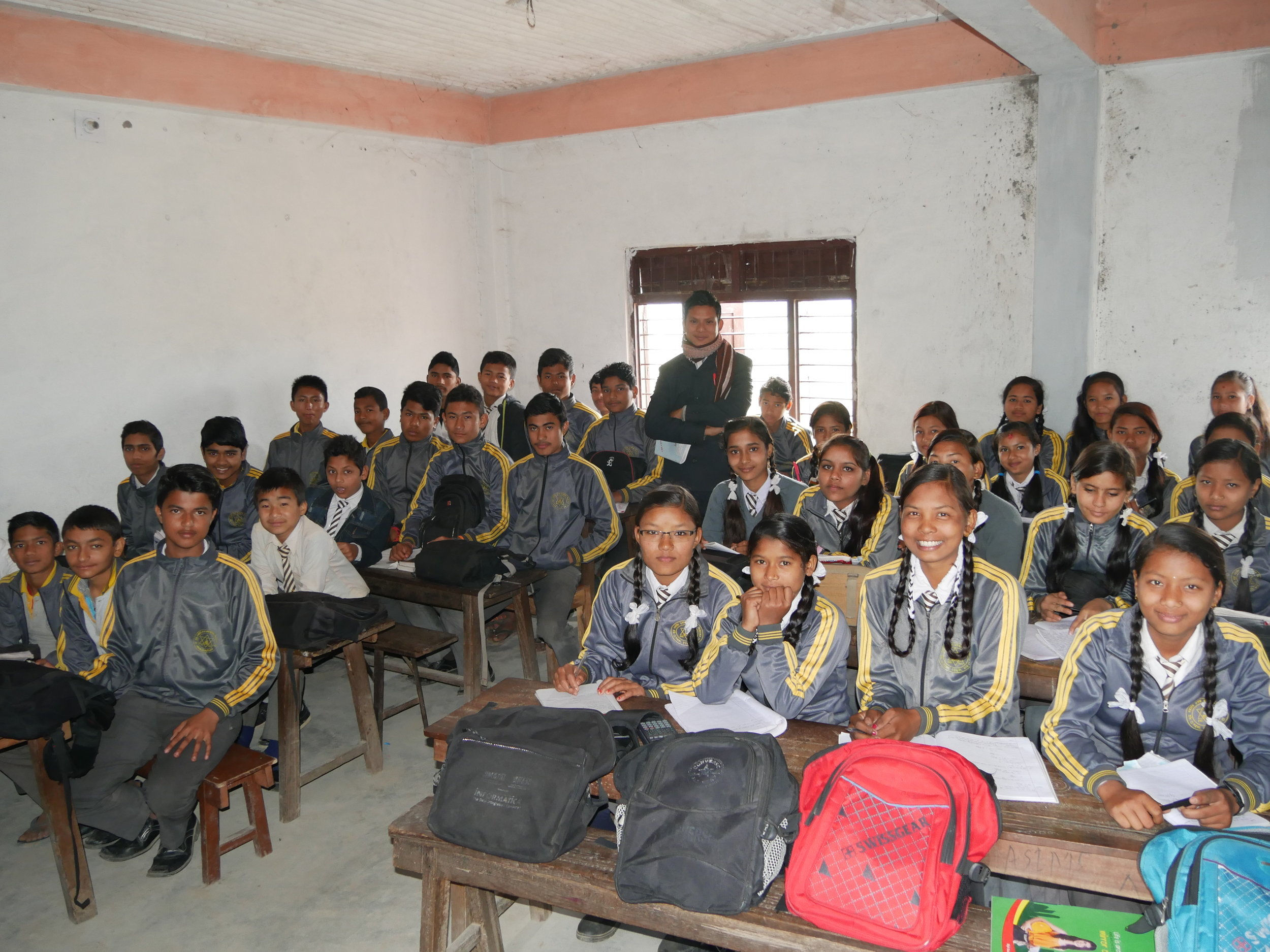 Sushmita at school (She is in the front row with her beautiful big smile!)