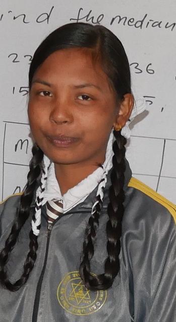 Sushmita in her school uniform