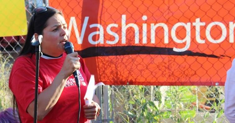 "- Violeta Sialer focused on her family, her work as a school bus driver and her church, until unjust treatment by her landlord sparked political passion in her. Her property manager harassed her with multiple eviction threats, including one because she was living with an ""unauthorized occupant"" - her son in high school. Violeta took action and connected with Washington CAN. She didn't just try to help her own family. Instead, she door-knocked her neighbors and organized the Rose Crest Tenants Association to fight back against unjust treatment. Her landlord recently signed a new lease with both her and her son and has stopped targeting her with eviction threats."