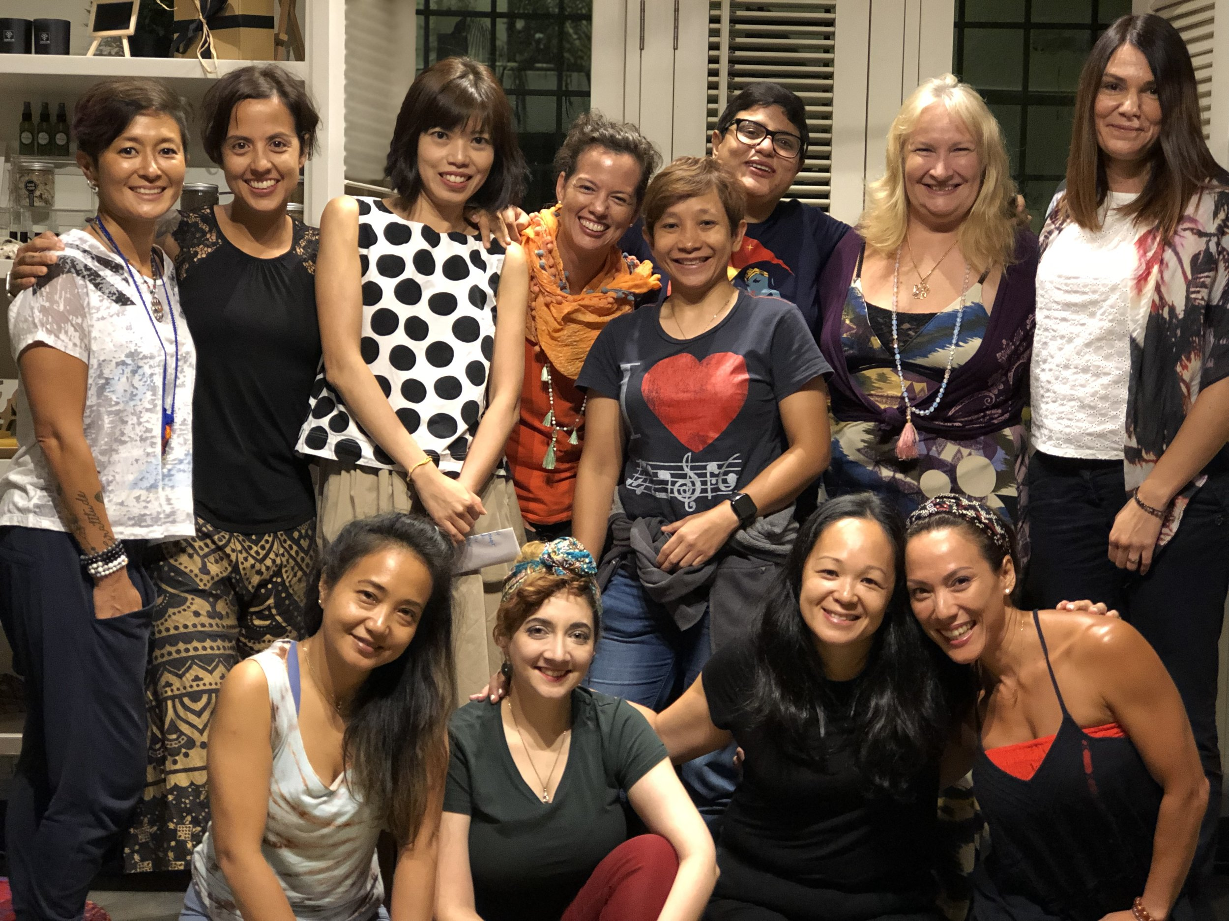"April 2019, IMP Women's Circle - ""With Melissa, you will effortlessly tap in to the power of music and visualisation. She has this gentle, deeply understanding way of keeping you safe in your vulnerability while you share and release your pain. Free from judging and shaming, you will be supported to release and transform the idea of who you are supposed to be""- Ana Vikario, (She loves dogs, kind people and her husband !)"