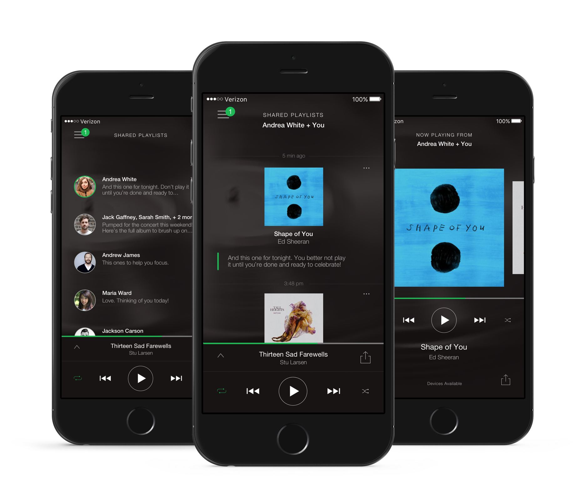 Key Screens: Receiving music