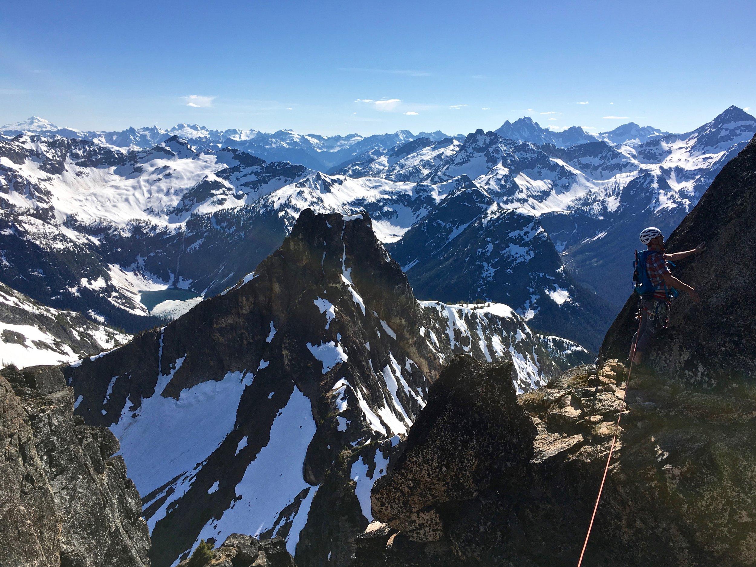 Dale near the summit of Cutthroat