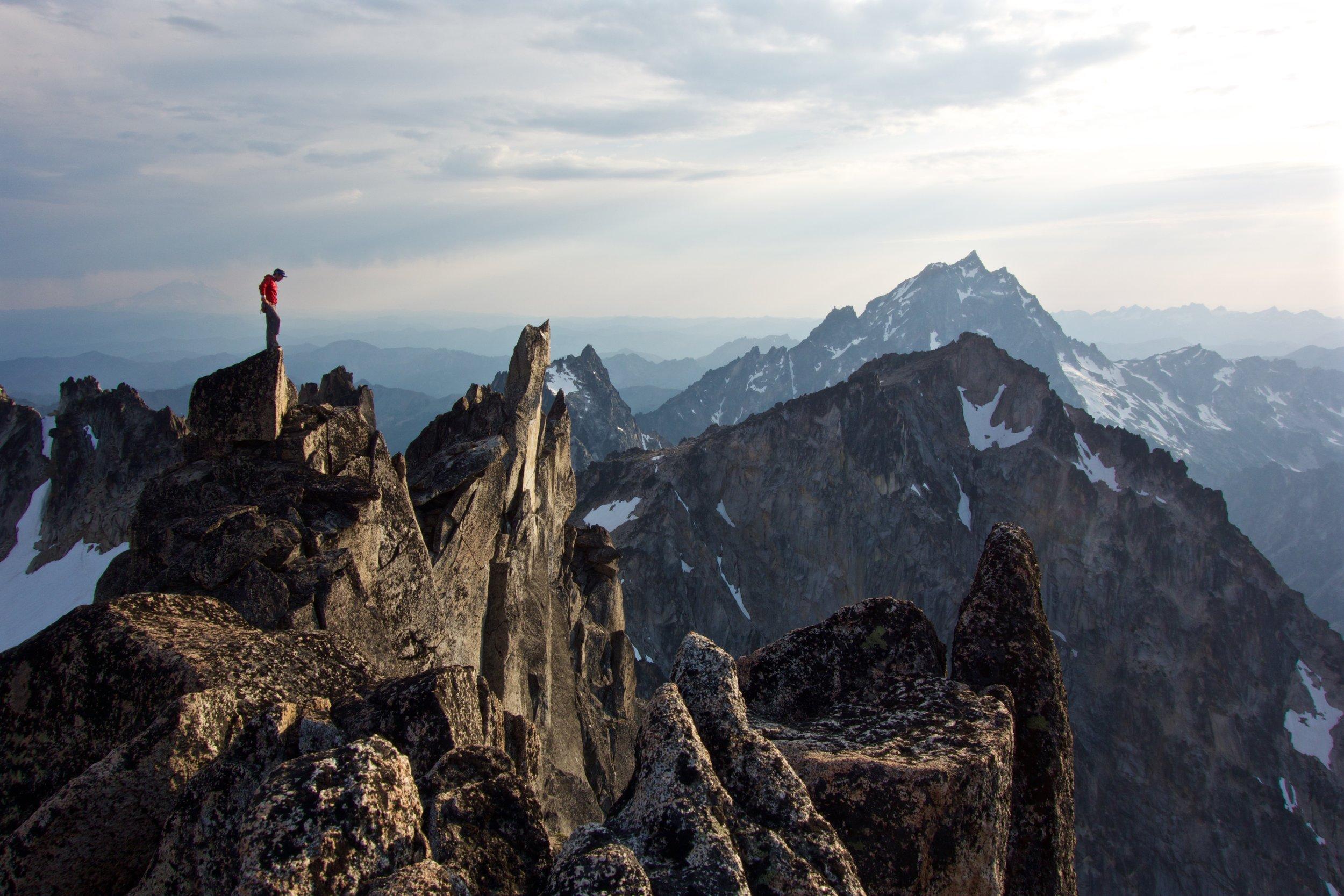 Enjoying the summit view