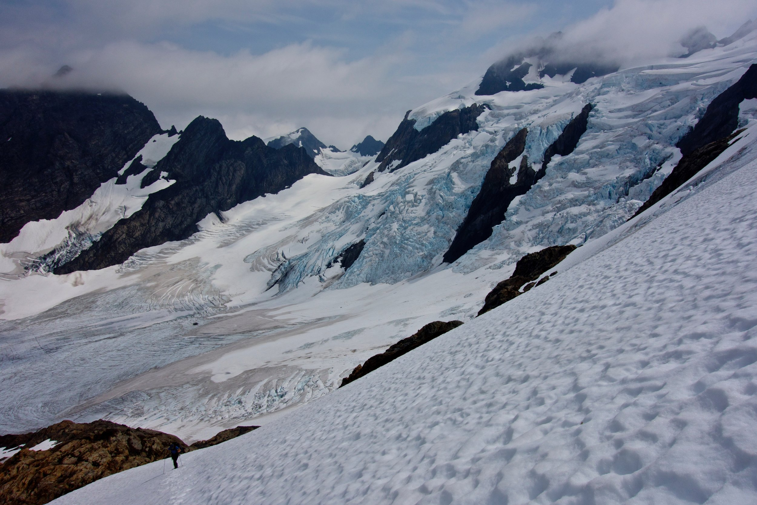 Ascending the Snow Dome, with the Blue Glacier behind