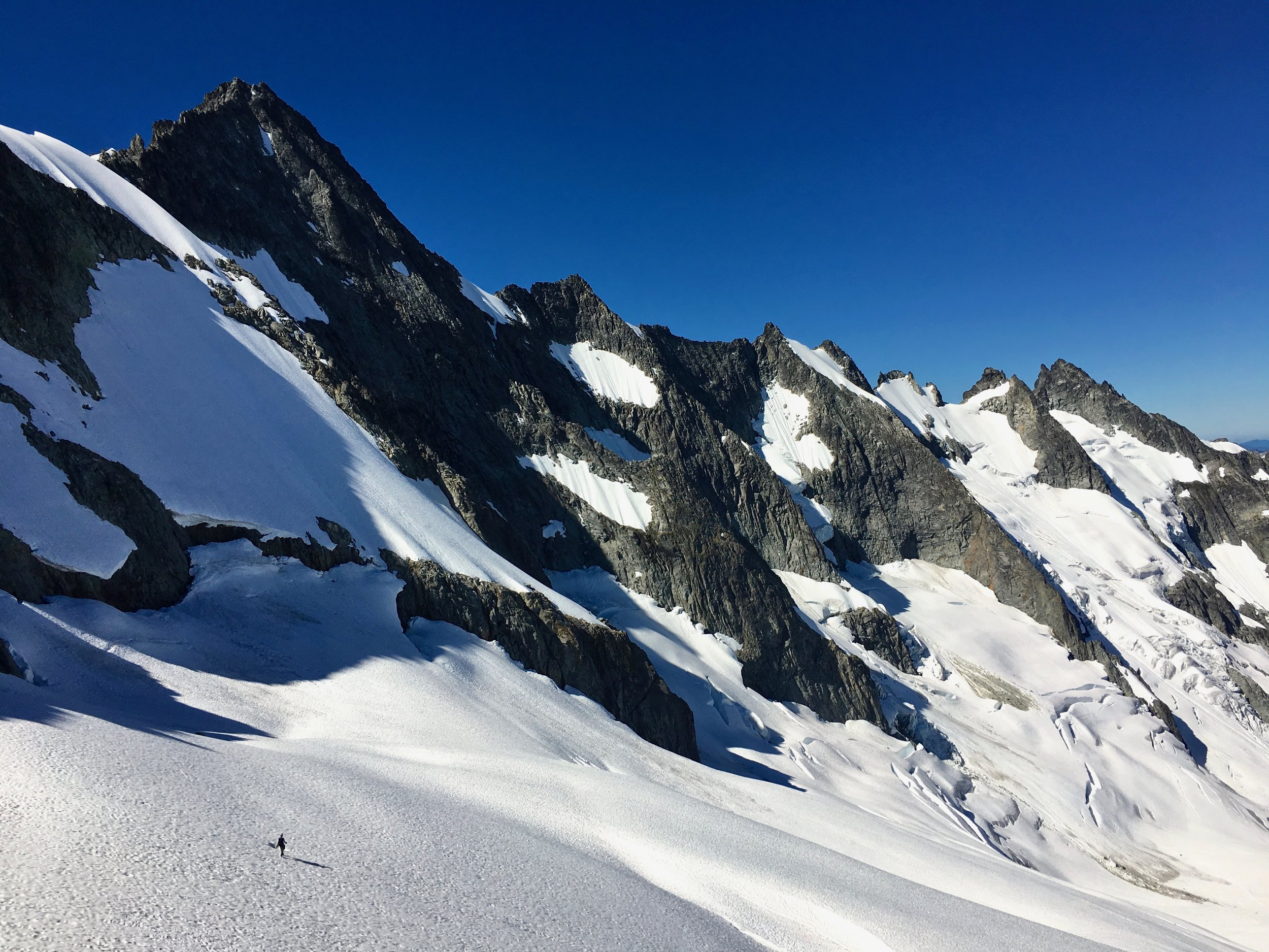Heading for the toe of the ridge