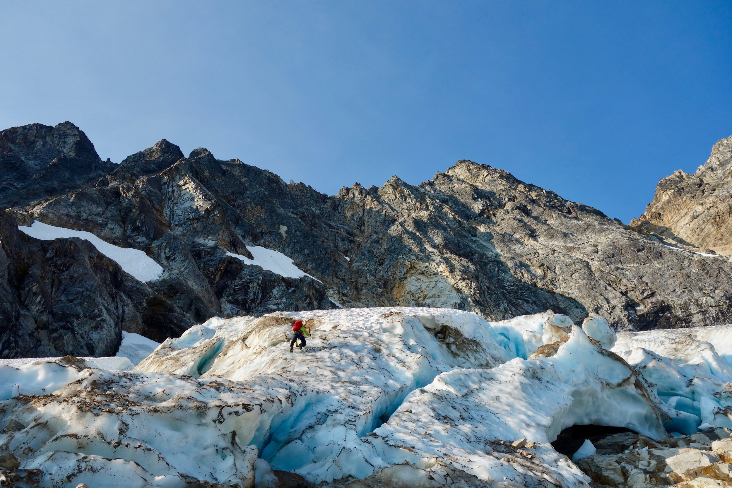 Getting onto the glacier