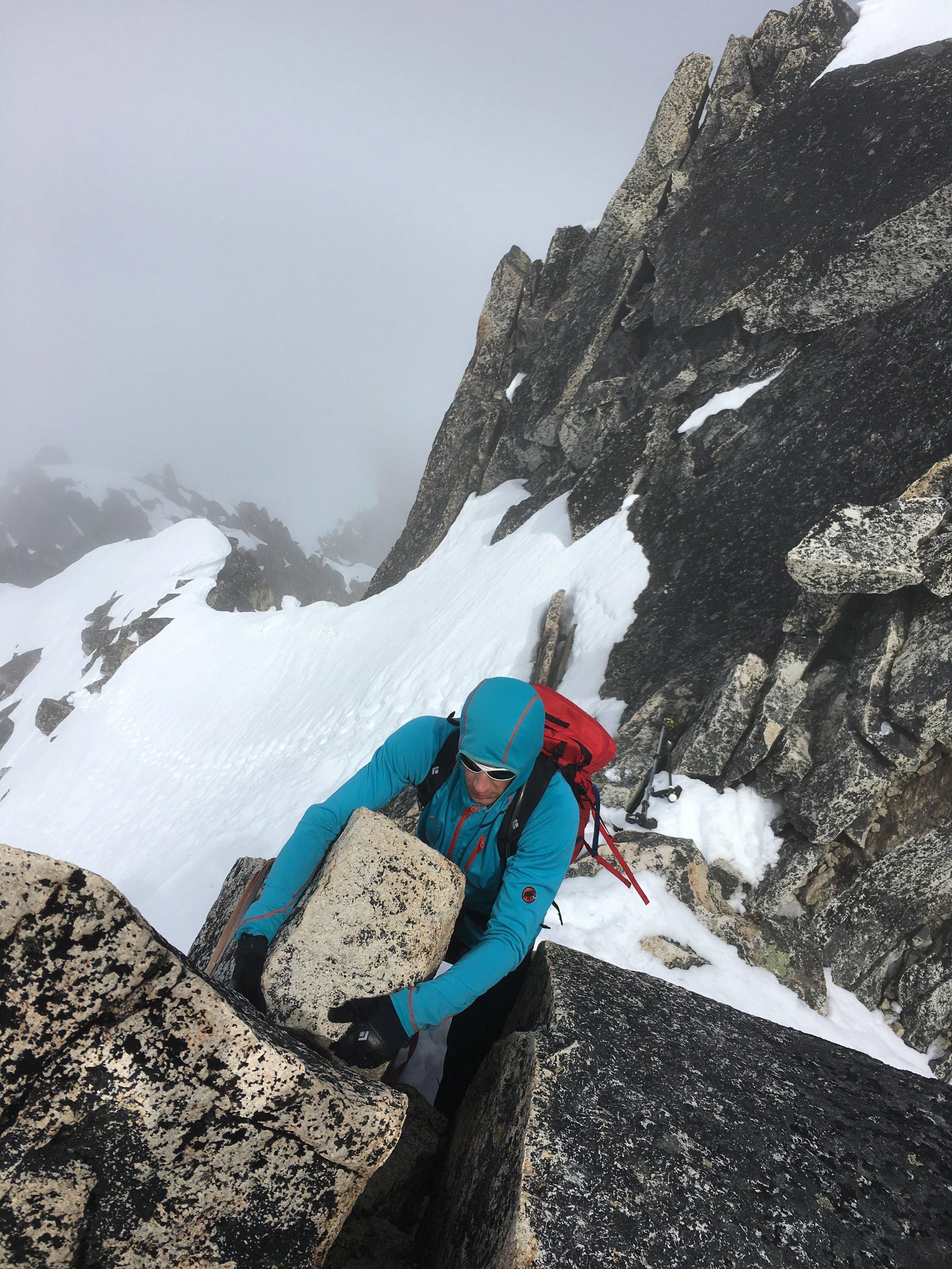 Scrambling to the summit