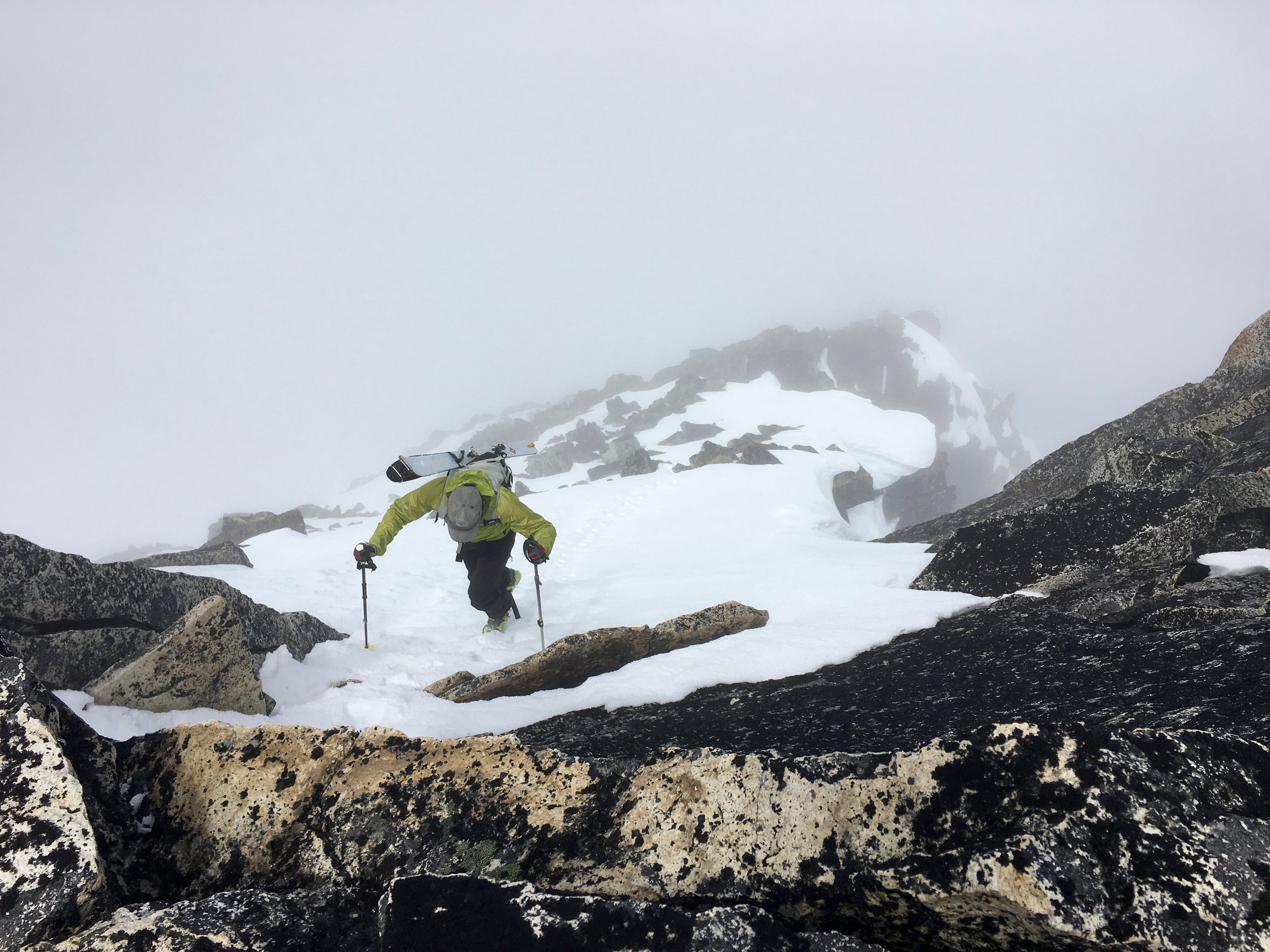 Booting up toward the top