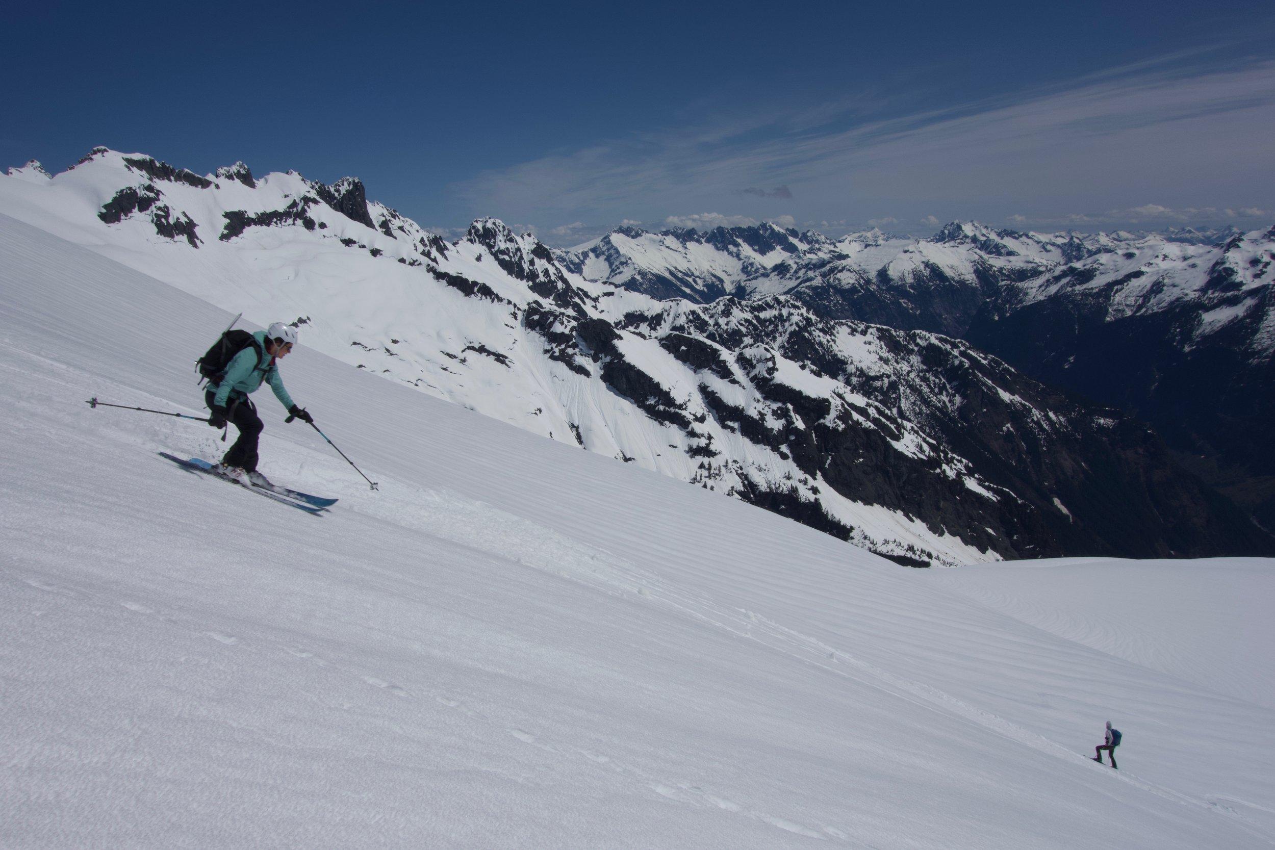 Enjoying the ski before it got really wet