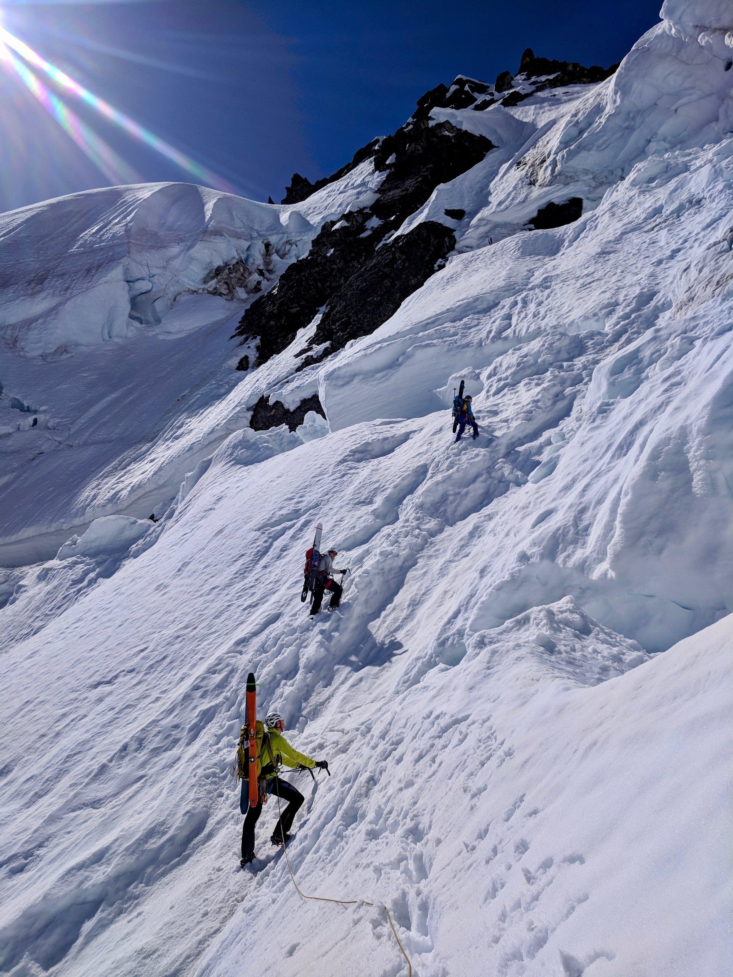 Getting close to the bergschrund