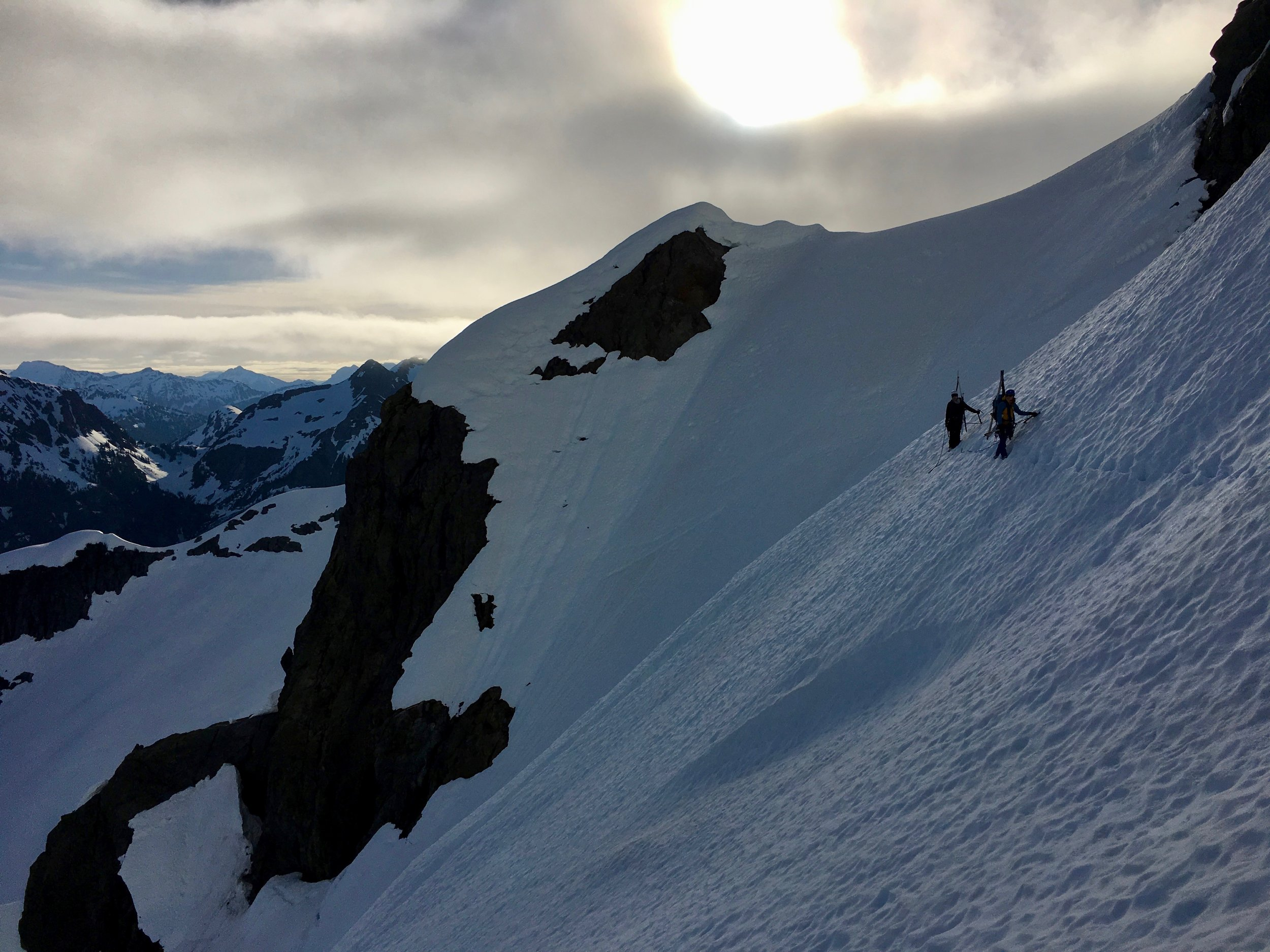 Traversing from the saddle to the ice step