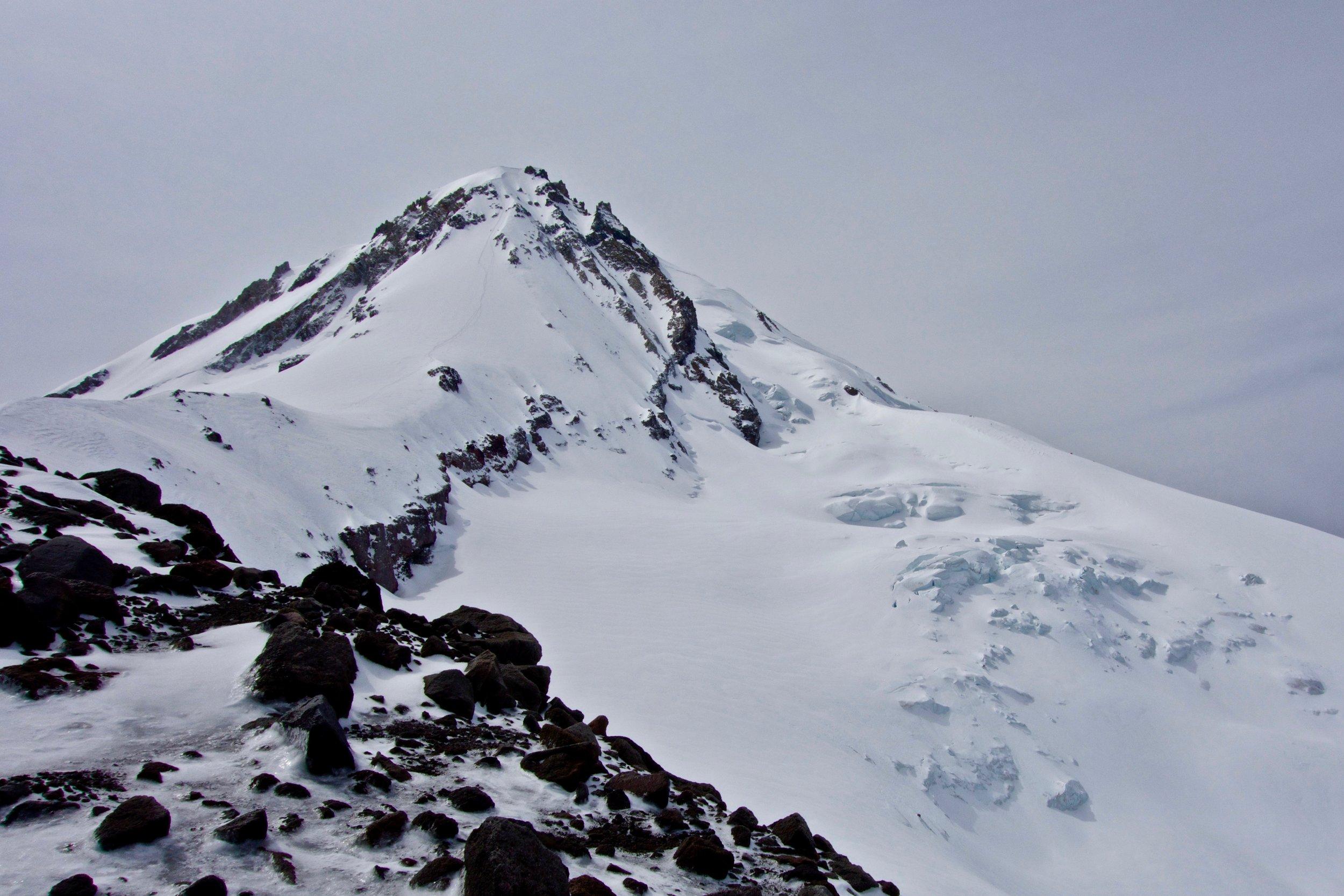 Our descent tracks down Cooper Spur