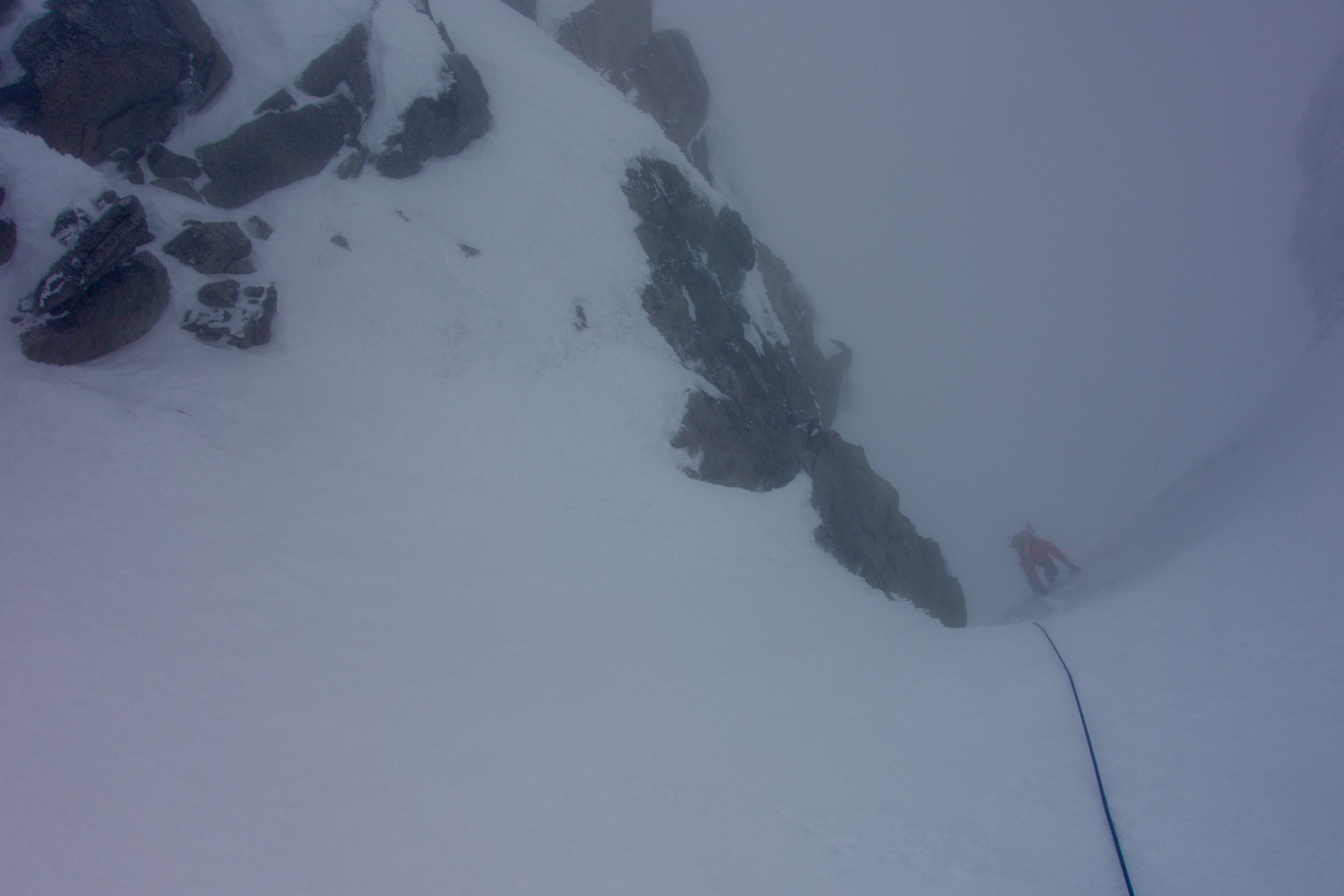 Finishing the couloir