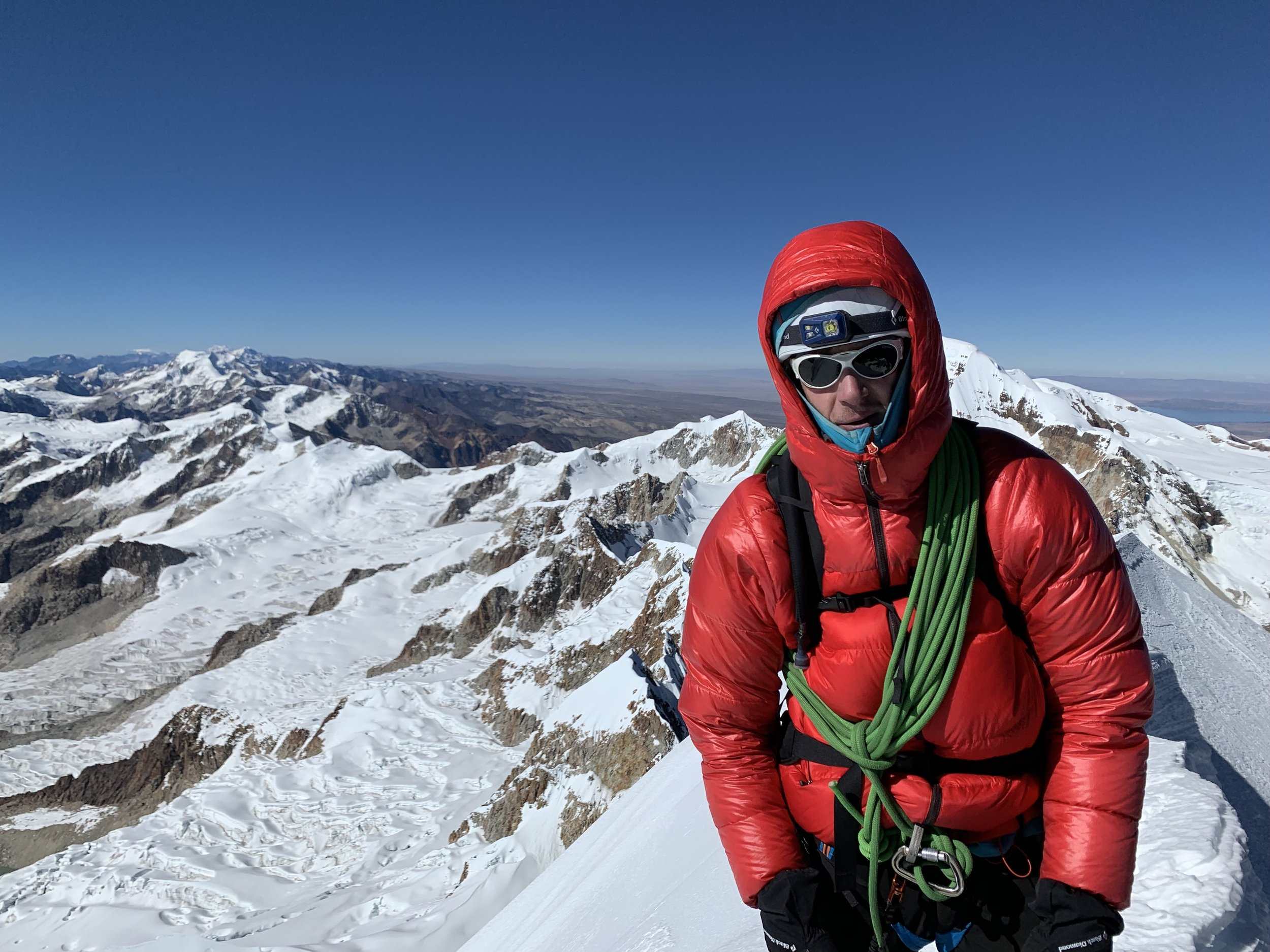 Me, looking cold on the summit